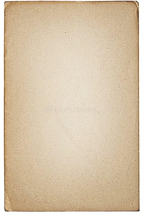Hoja del papel viejo aislada Primer de papel viejo imagenes de archivo