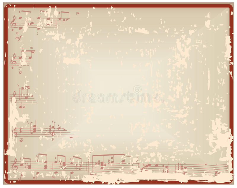 Download Hoja Del Vintage Con Las Notas Y El Espacio En Blanco Ilustración del Vector - Ilustración de grunge, gráfico: 64203098