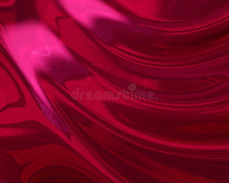 Hoja digital roja sedosa ilustración del vector