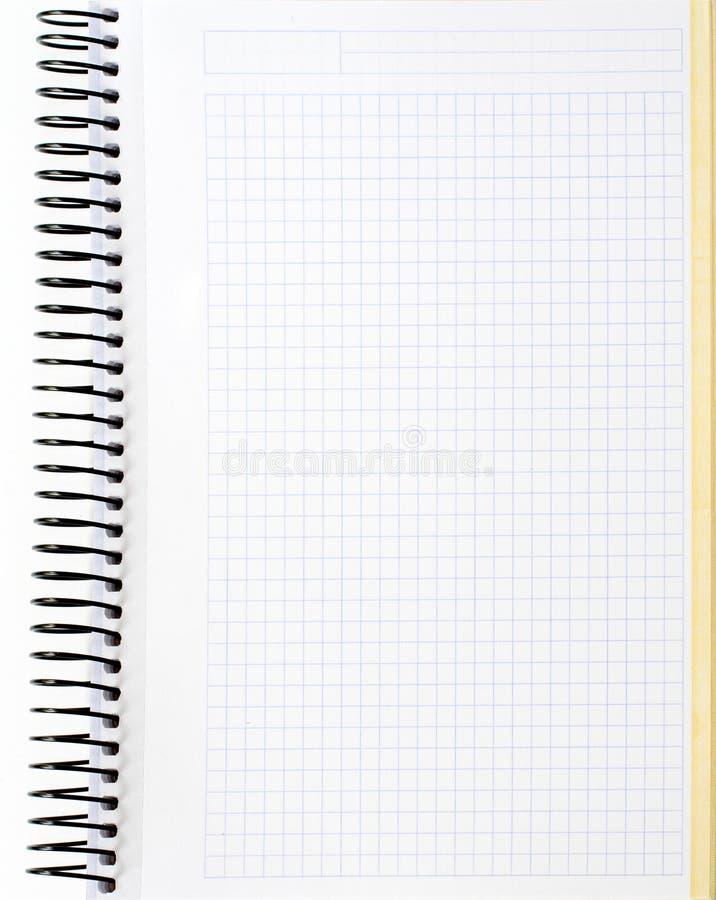 Hoja en blanco del cuaderno fotos de archivo