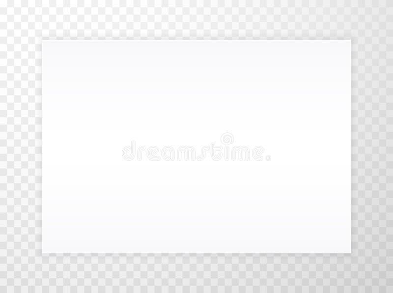 Hoja en blanco A4 del Libro Blanco con la sombra, plantilla para su dise?o conjunto Ilustraci?n del vector ilustración del vector