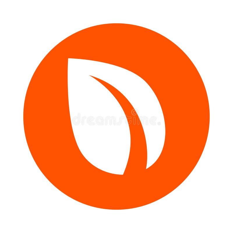 Hoja estilizada - símbolo de la moneda crypto digital Peercoin, icono redondo monocromático, estilo plano libre illustration