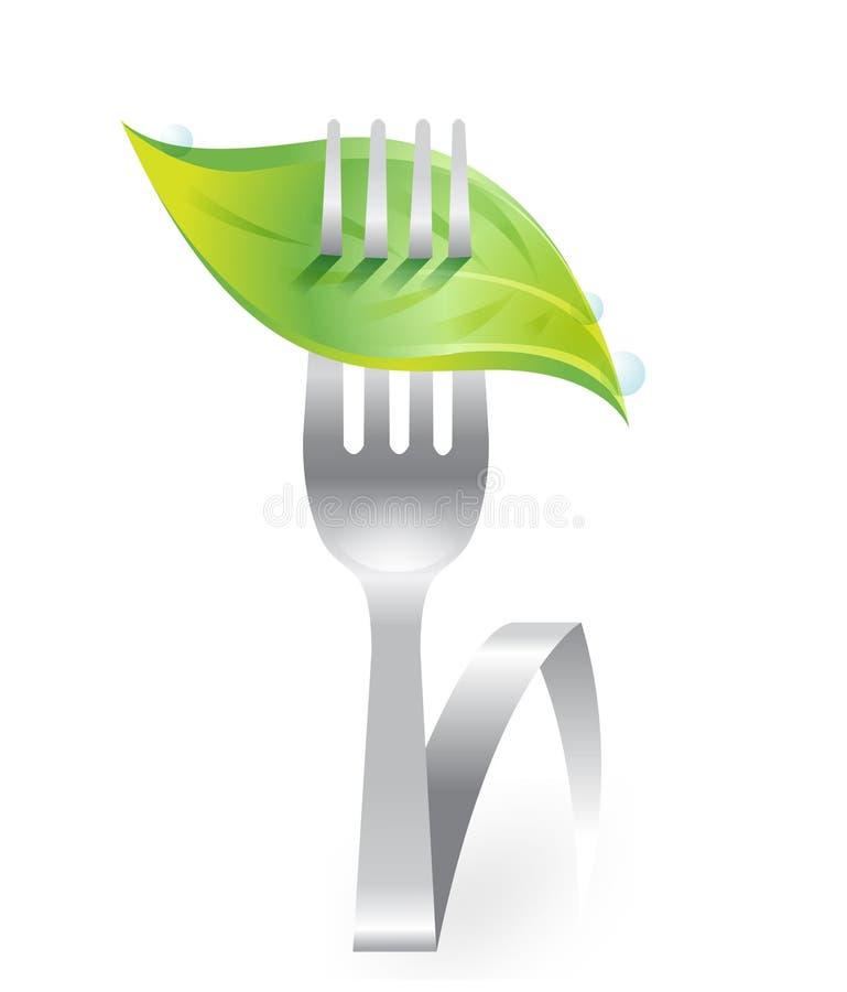 Hoja fresca verde en fork libre illustration