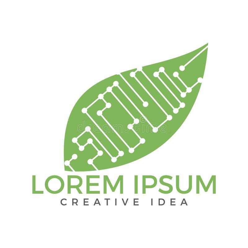 Hoja Logo Design del circuito stock de ilustración