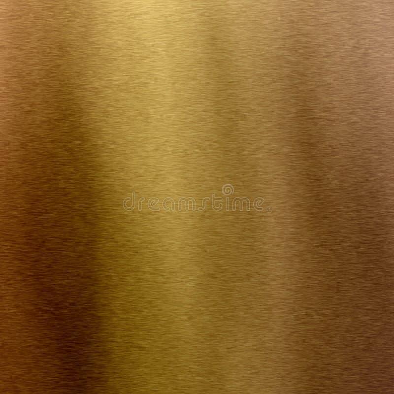Hoja metálica de oro en bronce cepillado fotos de archivo libres de regalías