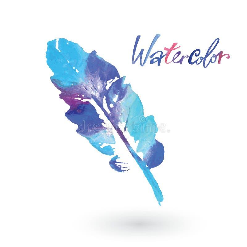 Hoja natural de la acuarela Logotipo de Eco, trabajo creativo Objeto aislado en un fondo blanco libre illustration