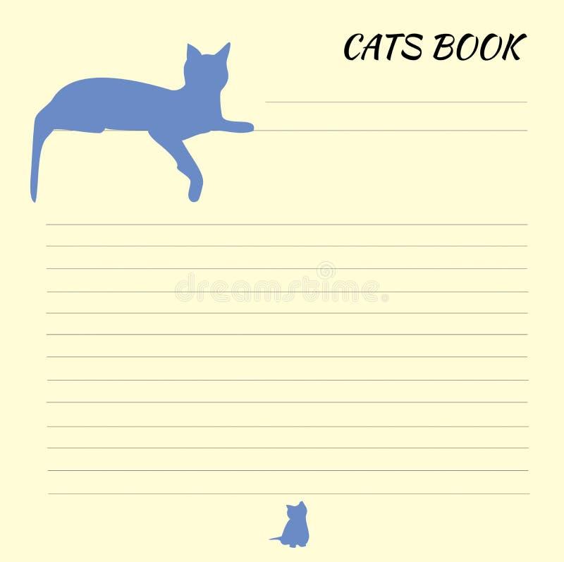 Hoja para los expedientes con el modelo del gato foto de archivo
