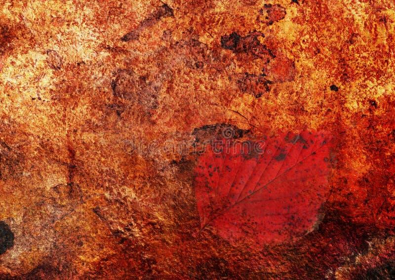 Hoja pintura-ocultada extracto fotografía de archivo