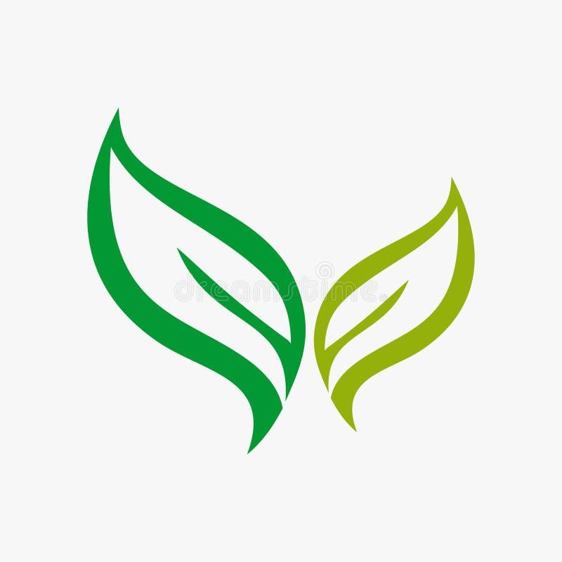 Hoja, planta, logotipo, ecología, gente, salud, verde, hojas, sistema del icono del símbolo de la naturaleza de diseños ilustración del vector