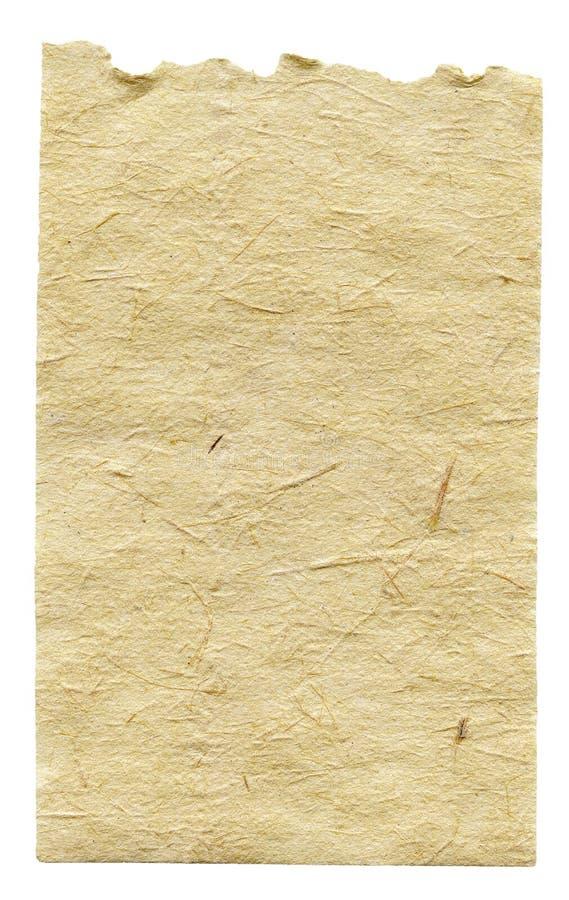 Papel hecho a mano foto de archivo