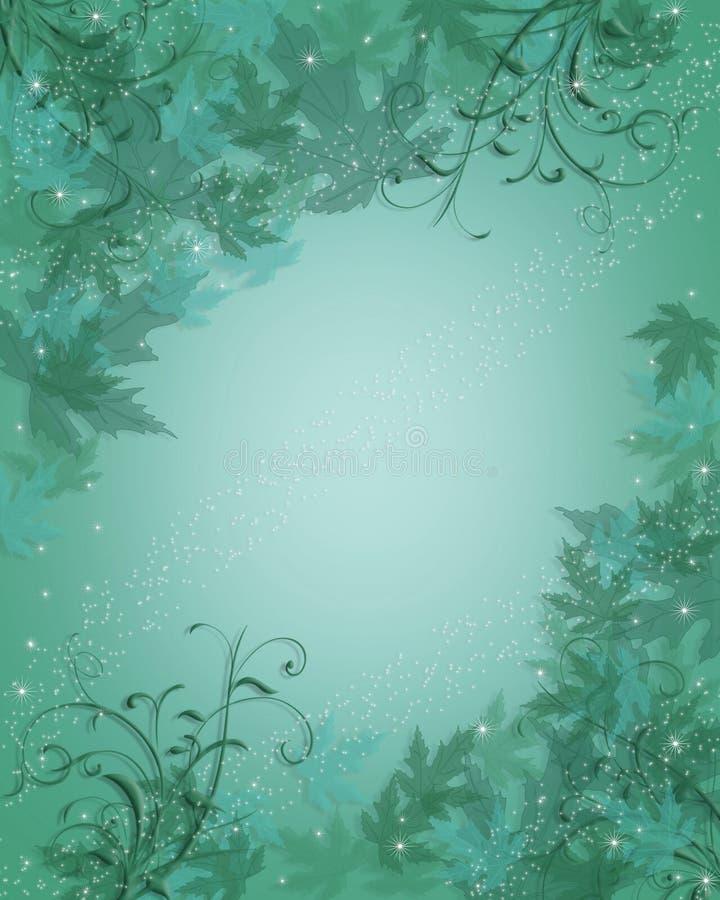 Hojas azules del extracto del fondo ilustración del vector