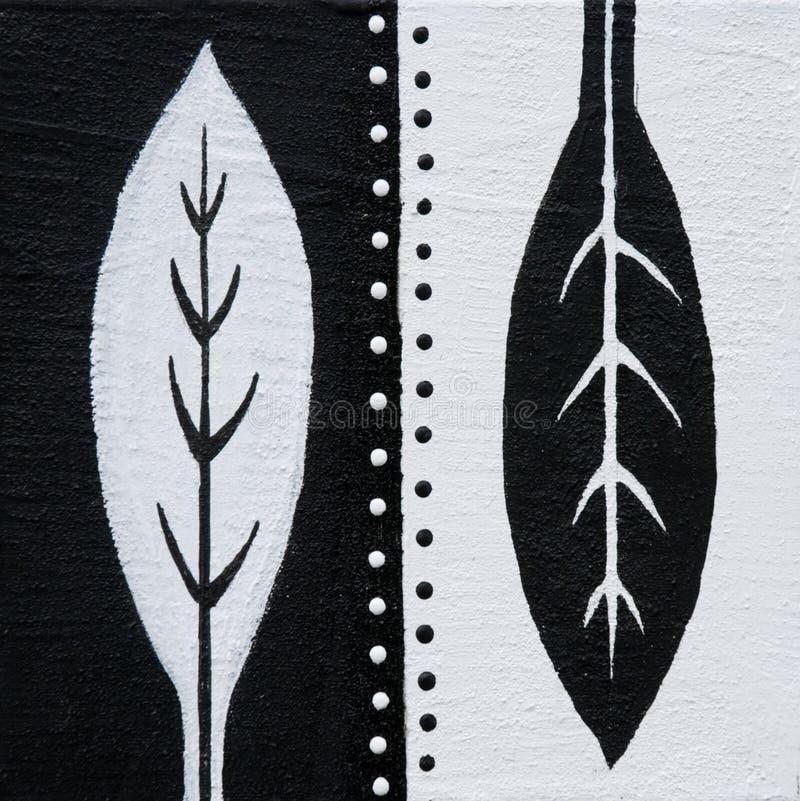 Hojas blancos y negros stock de ilustración