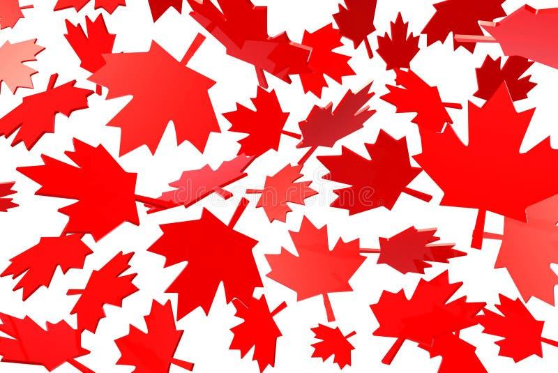 Hojas de arce canadienses en otoño libre illustration