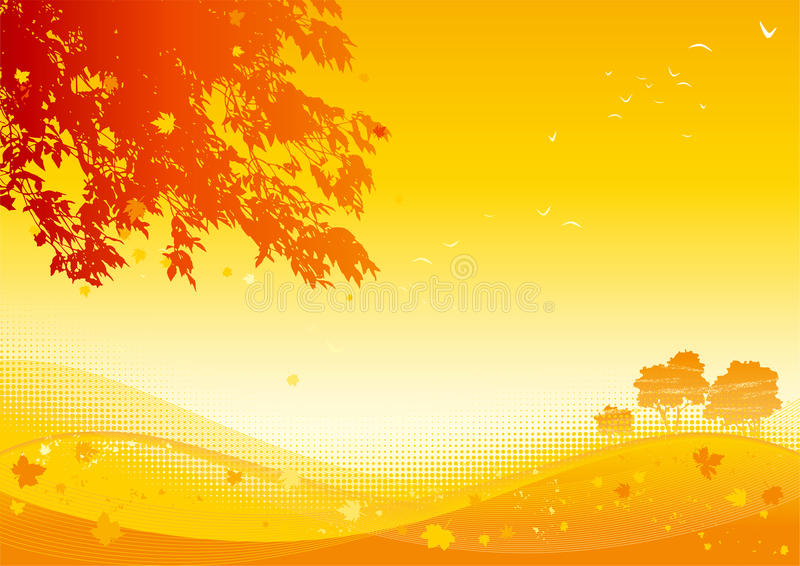 Hojas de arce del otoño libre illustration