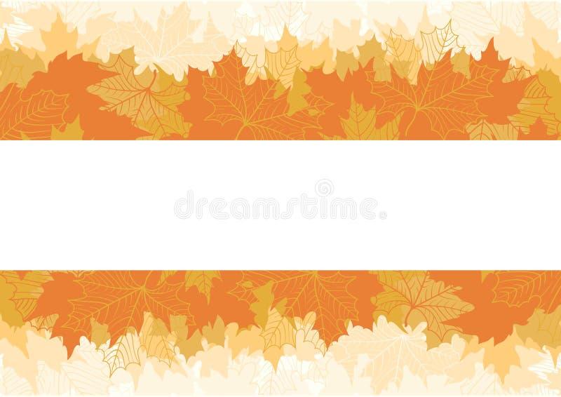 Hojas de arce del otoño stock de ilustración