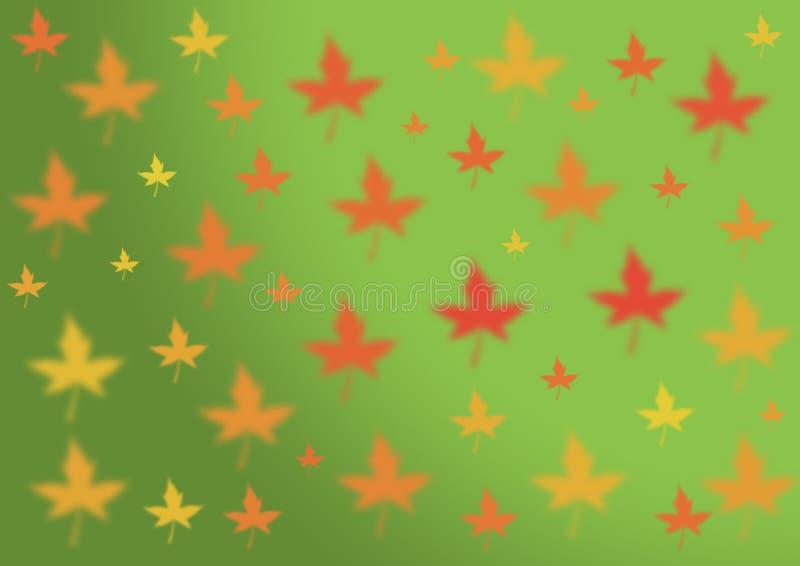 Hojas de arce de oro Thanksgivi del amarillo abstracto del rojo anaranjado del otoño stock de ilustración