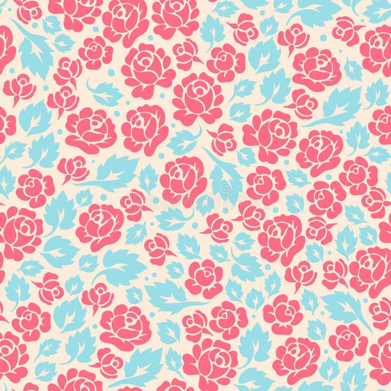 Hojas de la rosa y de la turquesa del rosa ilustración del vector