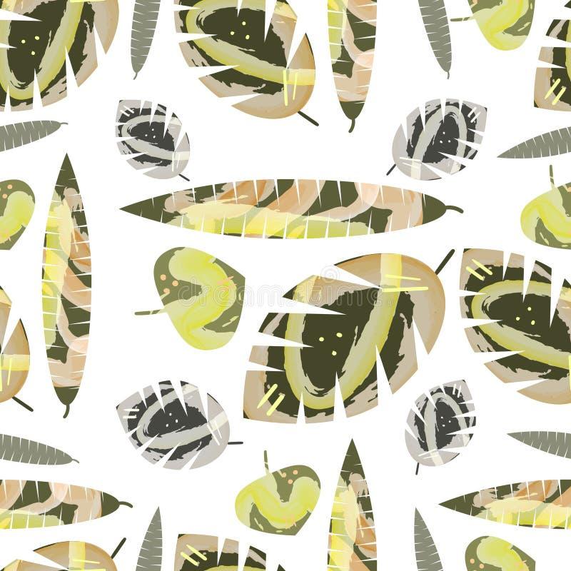 Hojas de mármol ilustración del vector