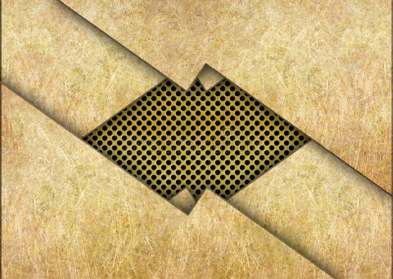 Hojas de metal, el fondo para el diseño, bronce o latón imagen de archivo libre de regalías