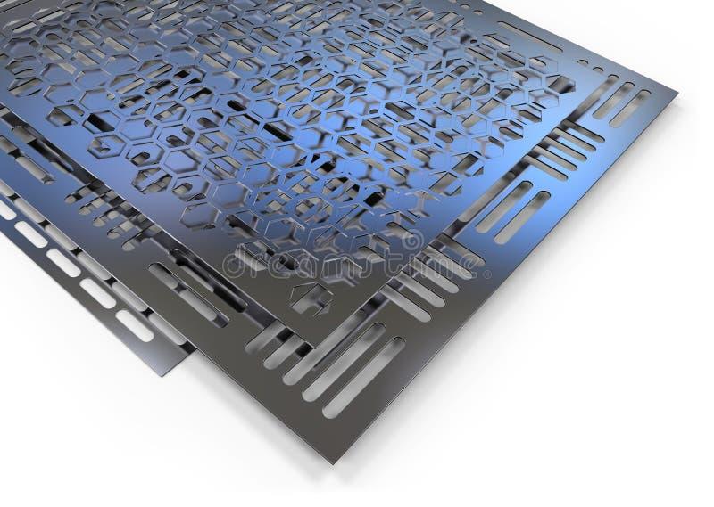Hojas de metal perforadas ilustración del vector