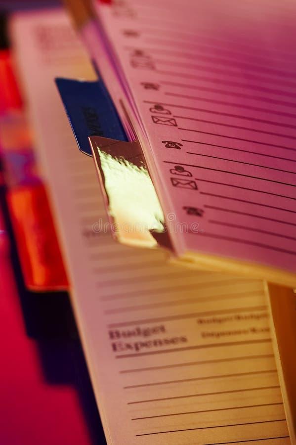Hojas de operación (planning) imágenes de archivo libres de regalías