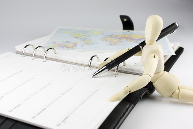 Hojas de operación (planning) de la agenda imagenes de archivo