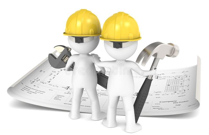 Hojas de operación (planning) de proyecto. stock de ilustración