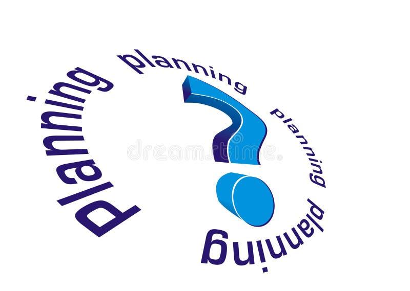 Hojas de operación (planning) inciertas ilustración del vector