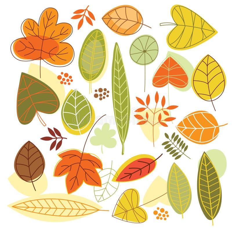 Hojas de otoño stock de ilustración