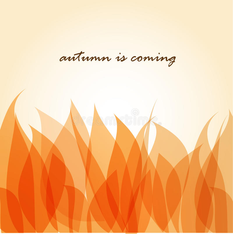 Hojas de otoño ilustración del vector
