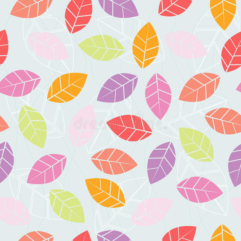 Hojas de otoño de Colorfull inconsútiles fotografía de archivo