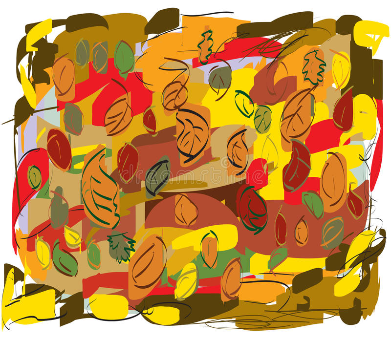 Hojas de otoño en todos los colores foto de archivo