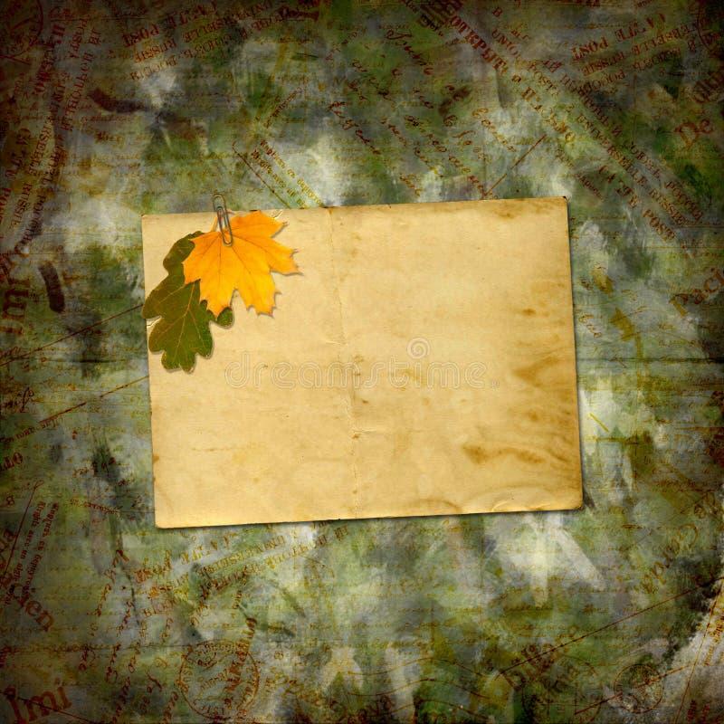 Hojas de otoño multicoloras brillantes en fondo hermoso abstracto libre illustration