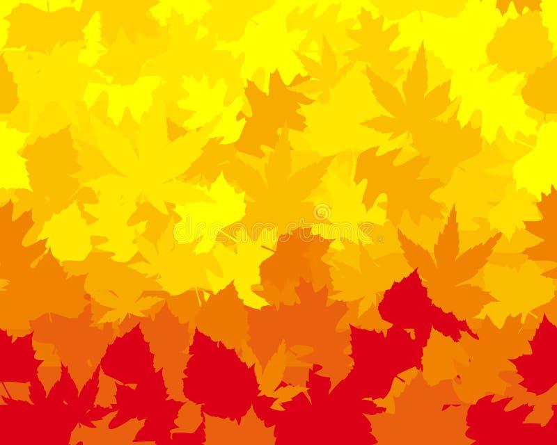 Hojas de otoño vibrante coloreadas, papel pintado ilustración del vector
