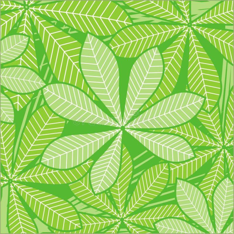 Hojas de palma en verde