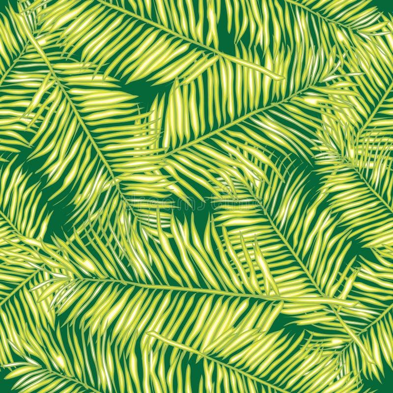 Hojas de palma Fondo inconsútil del vector floral ilustración del vector