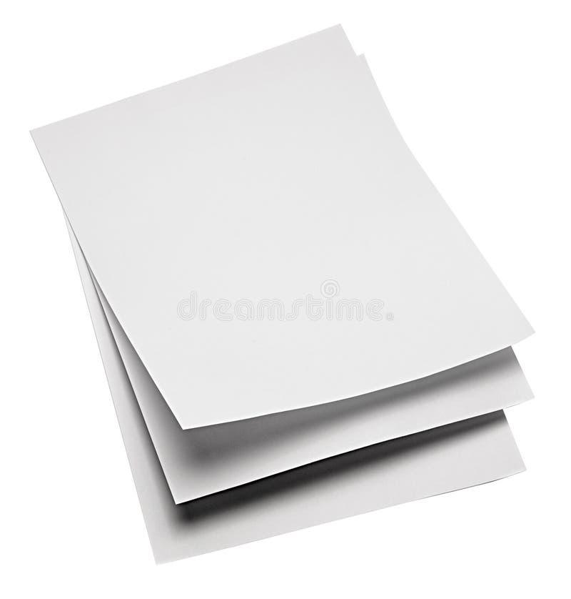 Hojas de papel imagen de archivo libre de regalías