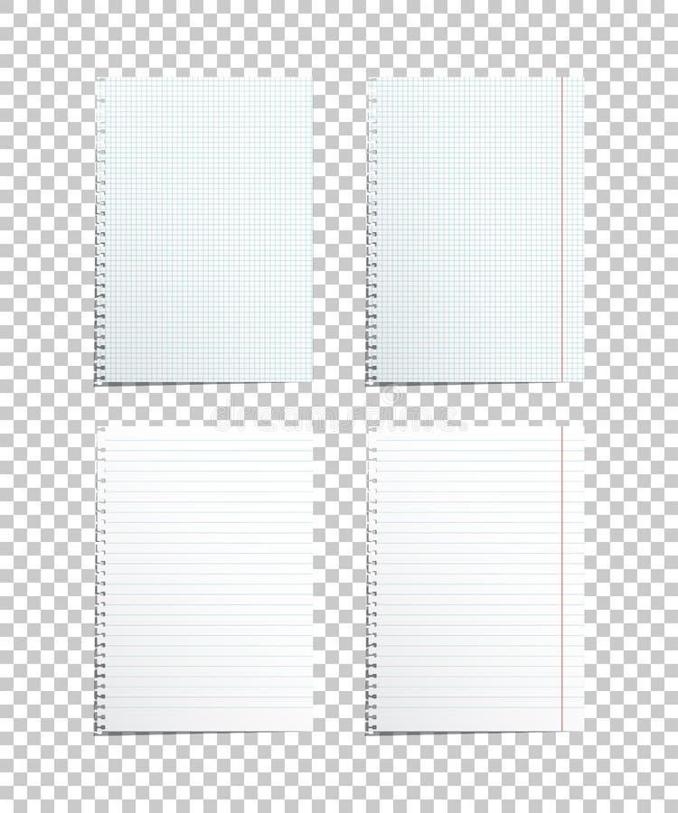 Hojas de papel clasificadas Ilustración del vector ilustración del vector
