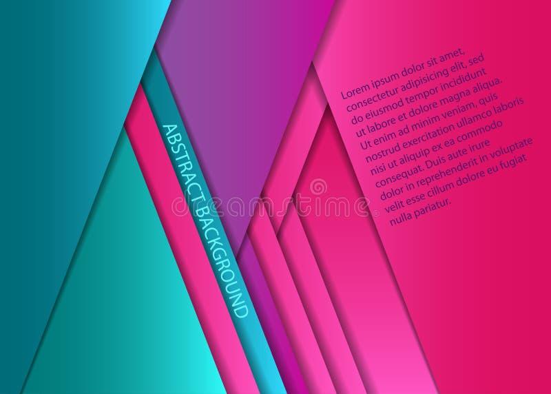 Hojas de papel coloridas stock de ilustración