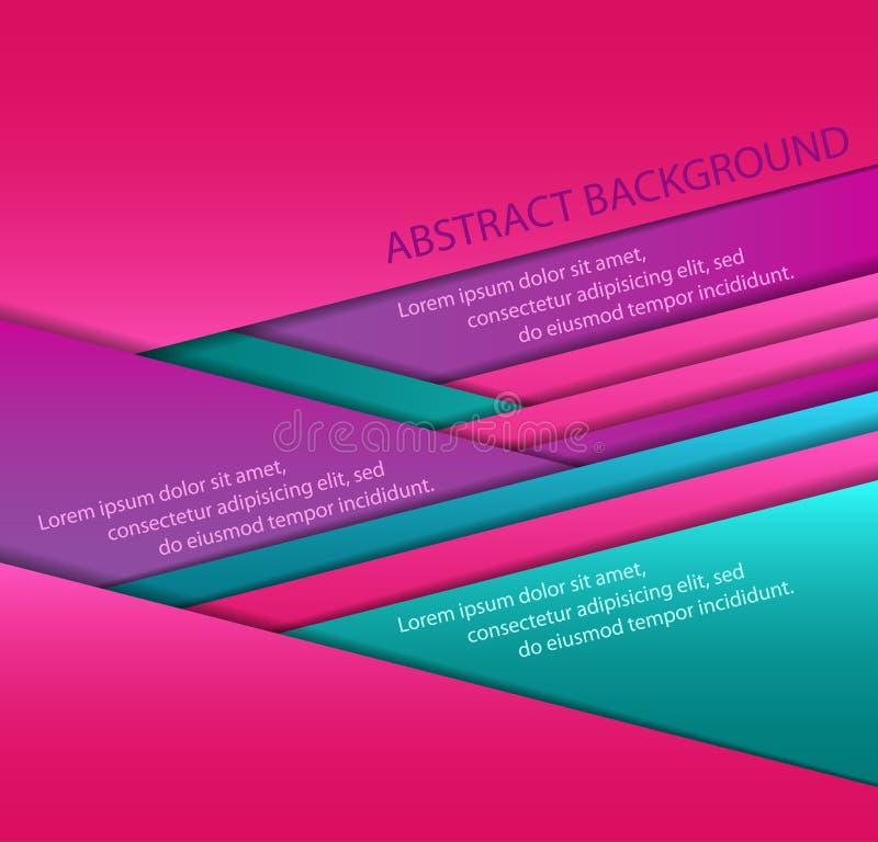 Hojas de papel coloridas ilustración del vector