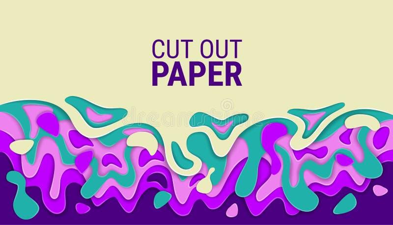 Hojas de papel onduladas cortadas Capas coloridas brillantes del vector imagen de alivio abstracta 3D libre illustration