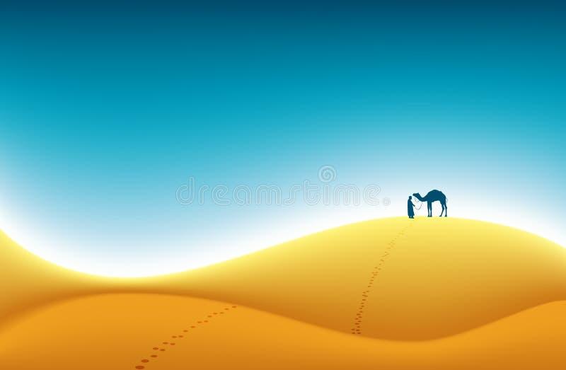 Hojas de ruta (traveler) del desierto stock de ilustración