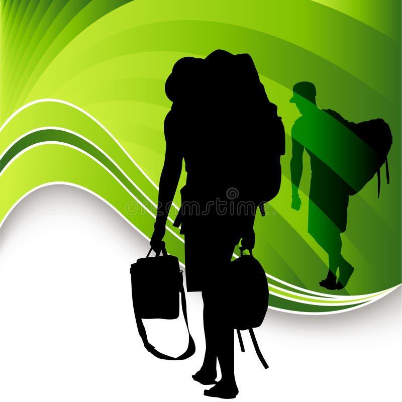 Hojas de ruta (traveler) turísticas ilustración del vector