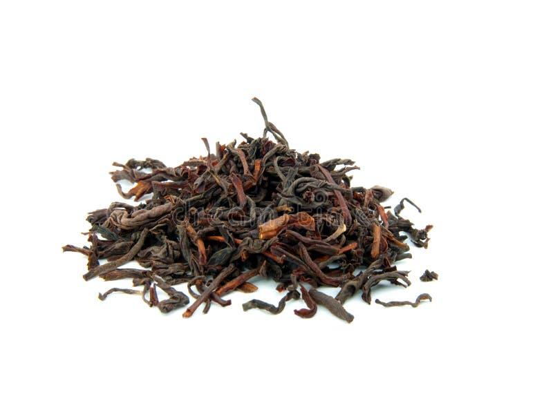 Hojas de té secadas flojas del té negro foto de archivo libre de regalías