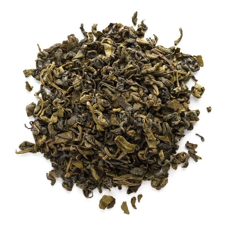 Hojas de té secas del oolong aisladas en el fondo blanco foto de archivo libre de regalías
