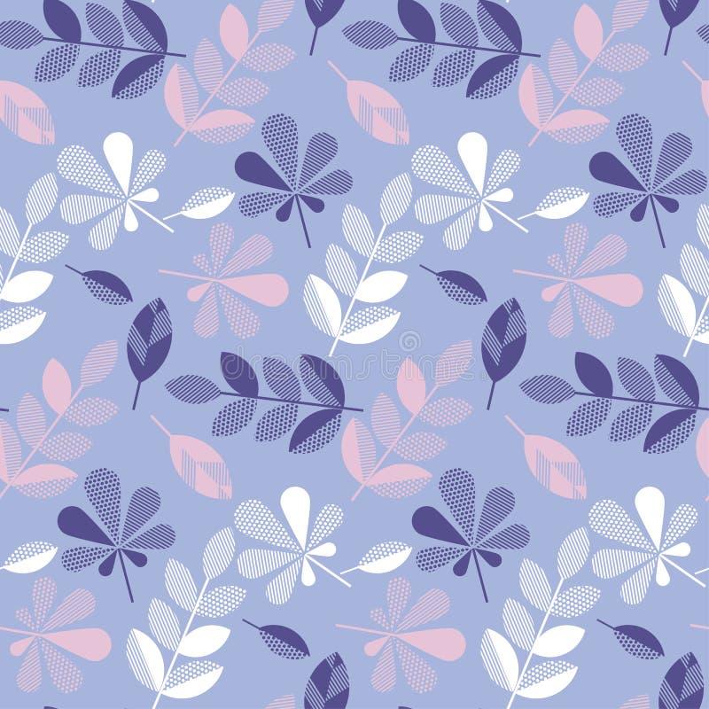 Hojas decorativas de la caída del color púrpura y violeta ilustración del vector