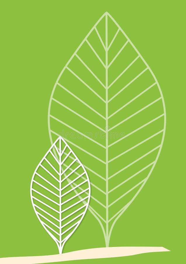 Hojas del árbol ilustración del vector