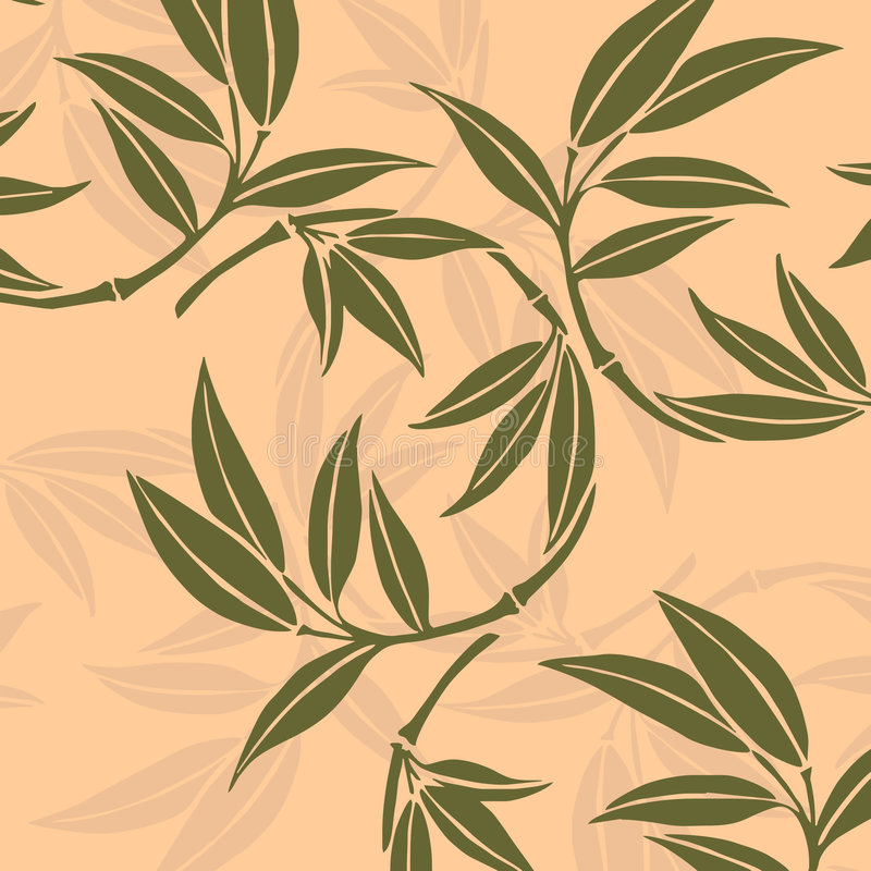 Hojas del bambú libre illustration