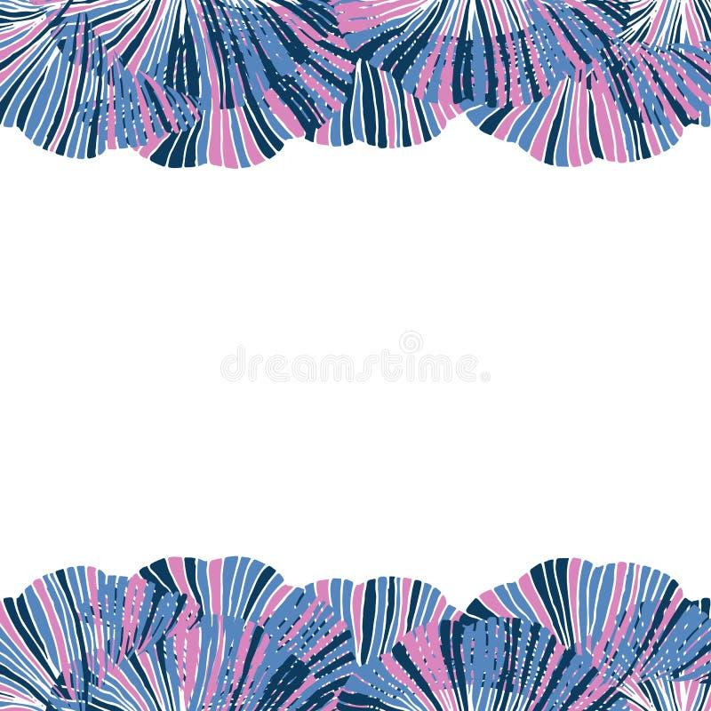 Hojas del biloba del ginkgo del vector Modelo lindo de los seamles Vagos dibujados mano stock de ilustración
