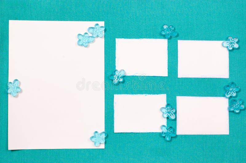 Hojas Del Documento Sobre La Pañería Azul Foto de archivo